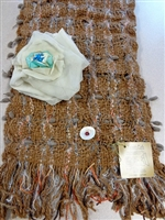 Handcrafted Argentine Llama Scarf - Beige