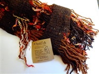 Handcrafted Argentine Llama Scarf - Dark Brown