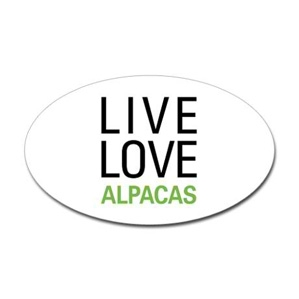 Live Love Alpaca Sticker
