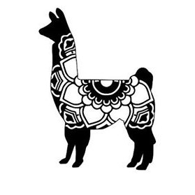 Boho Style Llama Window Decal - Large