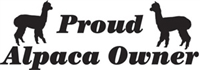 Proud Alpaca Owner Decal