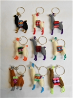 Peruvian Made Llama Key Chain