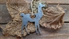Llama Love Rustic Steel Ornament