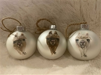 Hand Painted Alpaca Bulb Ornament