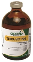 Terra Vet 200 mg. Oxytetracycline Injectable - 100 mg. bottle
