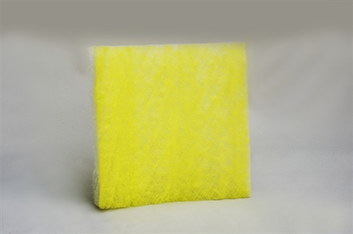 "22 Gram Yellow & White Fiberglass Pads (20"" x 20"") (50/box)"