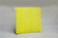 "22 Gram Yellow & White Fiberglass Pads (24"" x 24"") (100/box)"