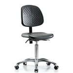 Perch Ergonomic Industrial Chair in Chrome with Large Back