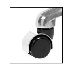 Chrome Hooded Casters - Set of 5
