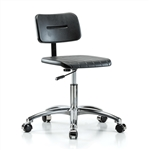 Perch Industrial Work Chair in Chrome