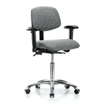 Perch Chrome Multi-Task Office Chair Adjustable Armrests