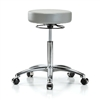 Perch Stella Chrome Medical Rolling Stool