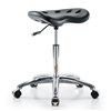 Perch Polyurethane Tractor Stool in Chrome with Single Lever Control