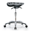 Perch Polyurethane Tractor Stool in Chrome with Tilt Control