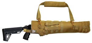 Trinity short barrel scabbard Tan 25 inches long shotgun hunting target range molle home defense gear.