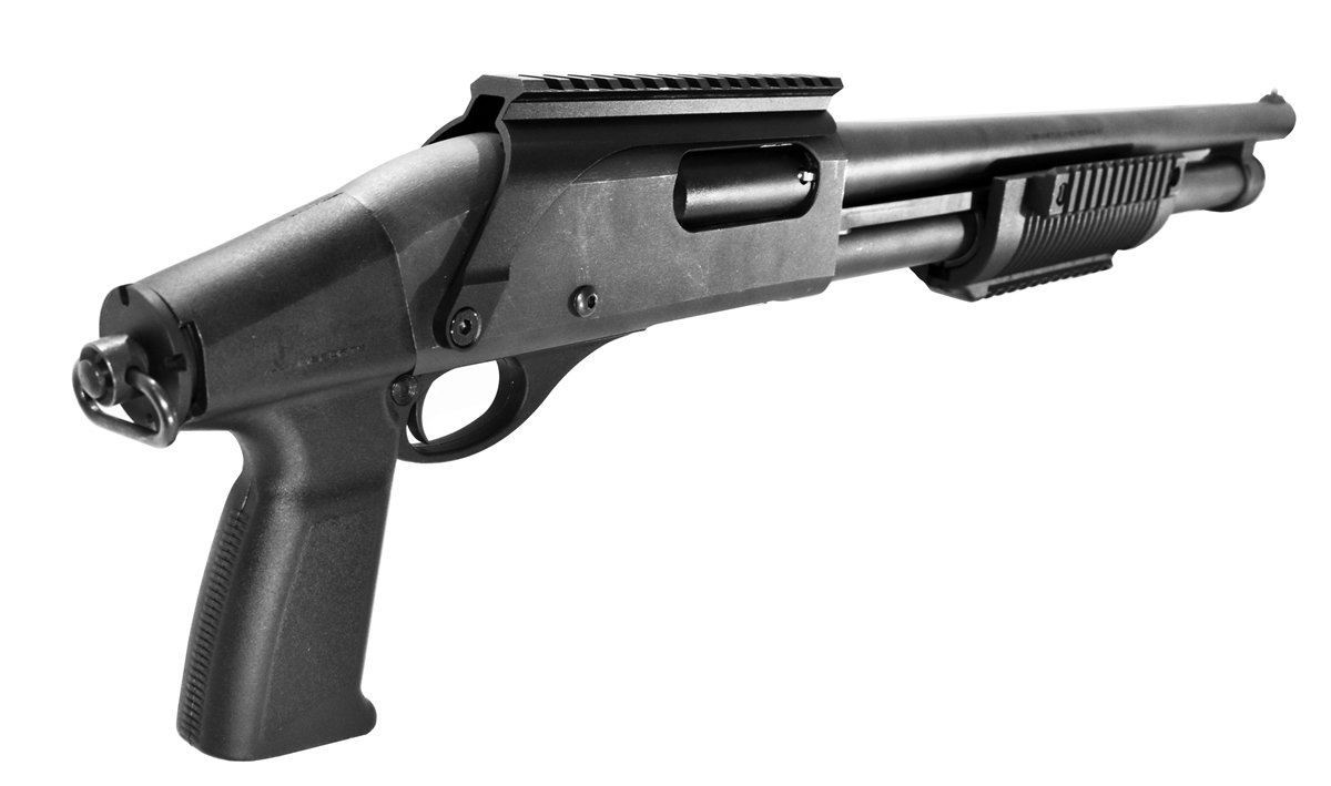 Remington 870 And H&R 1871 12 Gauge pump stock black