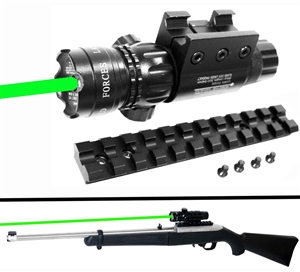 Trinity weaver picatinny mounted green dot sight with base rail adapter for Ruger 1022 rifle hunting optics tactical home defense accessory.