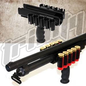 Trinity handguard shell carrier for remington 870 12 gauge pump hunting tactical home defense accessory.