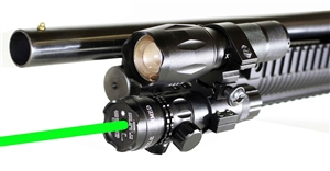 1000 lumen light with green dot sight For 12 Gauge pumps.