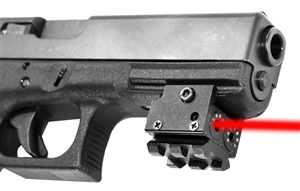 Trinity tactical Compact red dot sight for glock model 17 home defense accessory aluminum black picatinny weaver base mount.