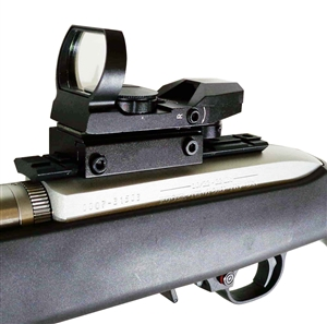 Rifle Reflex Red And Green Sight With 4 Reticles With Rail Mount For Ruger 10-22.