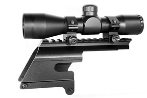 Trinity 4x32 scope with base mount for 12 gauge winchester 1200-1500 hunting optics tactical target range home defense accessory picatinny weaver base mount adapter aluminum black.