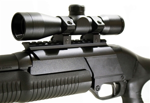 Hunting 4x32 scope and mount for Stevens 320 12 gauge pump.