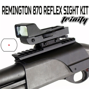 Trinity reflex red dot sight with rail mount for remington 870 picatinny weaver base mount adapter hunting optics mount tactical aluminum black.
