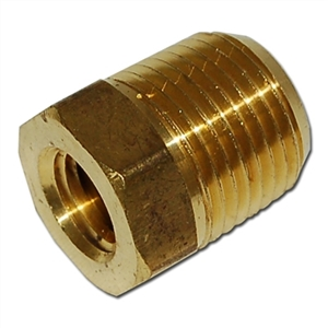Trinity 1/2 inch fpt x 1/4 inch fpt brass hex bushing fb804