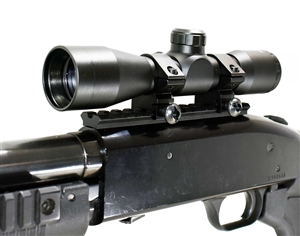 Trinity 4X32 combat scope with base mount for mossberg 500-590 picatinny weaver base mount adapter aluminum black mildot reticle hunting optics tactical home defense accessory.