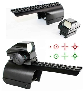 Tactical Compact Red & Green CQB Reticle Reflex Sight With Mount For 12 Gauge Benelli Nova/Super Nova.