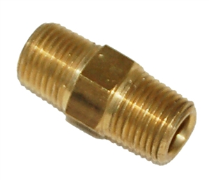 "Trinity 1/8"" npt hex male brass nipple FA212."