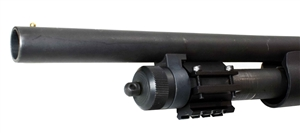 Trinity universal 12 gauge pump barrel mount black aluminum black shotgun accessory hunting tactical home defense.