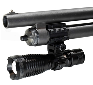 Trinity 1500 lumen strobe flashlight led with mount compatible with 12 gauge Shotguns.