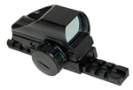 Trinity reflex sight with rail mount for mossberg 500 12ga pump picatinny weaver base mount adapter aluminum black hunting optics tactical target range home defense accessory.