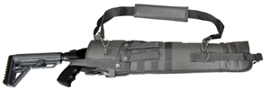 Trinity short barrel scabbard Gray 25 inches long shotgun hunting target range molle home defense gear.