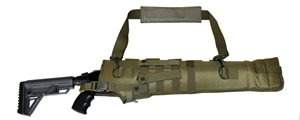 Trinity short barrel scabbard Olive Green 25 inches long shotgun hunting target range molle home defense gear.