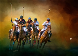 Keep your Eye on the Ball - Polo players by Lois Stanfield