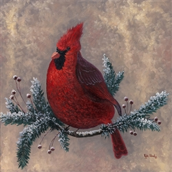Cardinal Spirit-beige background  by Kyle Wood