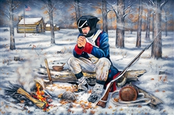 Soldiers Prayer at Valley Forge  by Robert Andrea