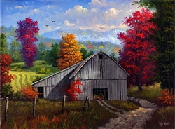 Barn Valley Autumn by Kyle Wood