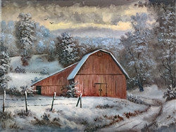 Barn Valley Winter by Kyle Wood