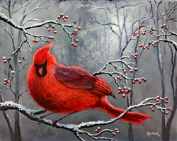 Cardinal and Berries by Kyle Wood