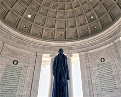 Jefferson Memorial - detail by Mitch Catanzaro