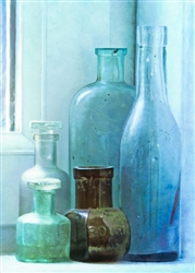 Bottles on the Sill by Hal Halli