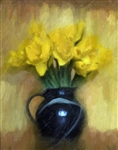 Vintage Daffs in a Vase by Hal Halli