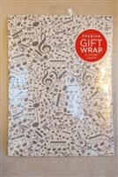 Musical Note Gift Wrap