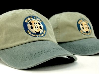 Ball Cap, hat, Magic Fluke logo, Magic Fluke apparel