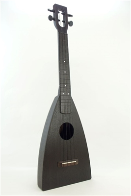 Totally Black Lava Fluke uke, American made