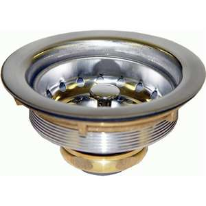 "AA-139 3-1/2"" S/S Duo Basket Strainer Set-Brass Nut 1-1/2"""